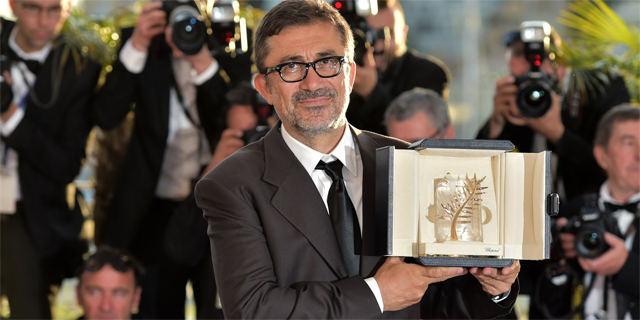 Nuri Bilge Ceylan, with his Golden Palm